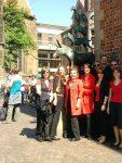 Die Wolpis vor den Bremer Stadtmusikanten